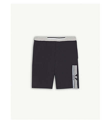 ARMANI JUNIOR Striped-eagle stretch-cotton shorts 4-16 years (Navy