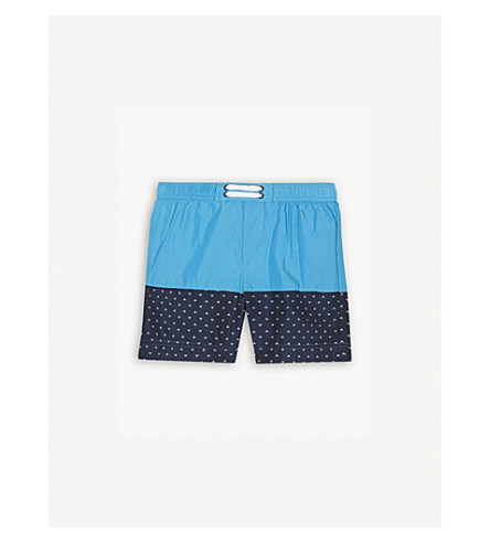 ARMANI JUNIOR Logo swim shorts 4-12 years (Turq