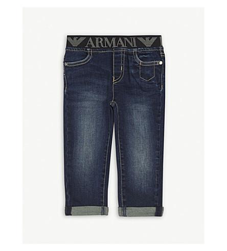 ARMANI JUNIOR Arm bb pull on denim jeans (Denim