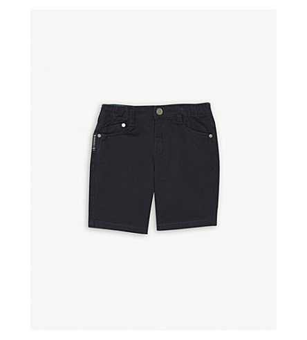 ARMANI JUNIOR Cotton-blend chino shorts 6-36 months (Navy