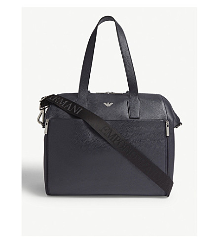 a6b273a4e70 ... EMPORIO ARMANI Faux-leather baby changing bag (Navy. PreviousNext