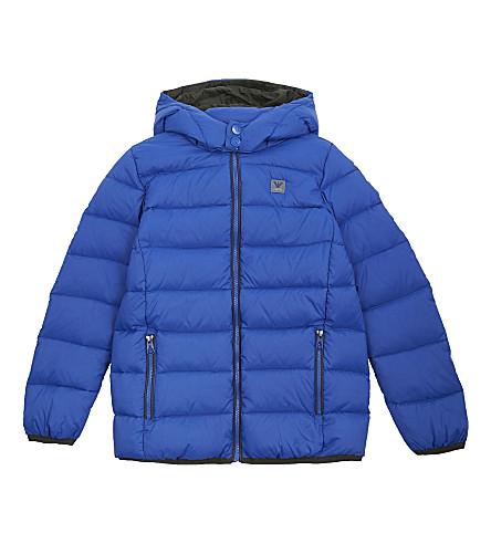 ARMANI JUNIOR Hooded down puffer jacket 4-16 years (Bluette