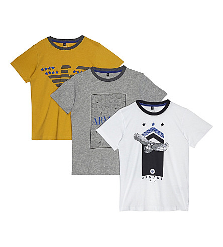 ARMANI JUNIOR 3-pack cotton t-shirts 4-16 years (Multi