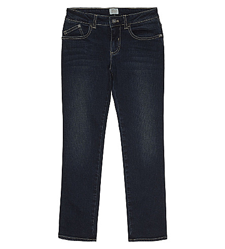 ARMANI JUNIOR Slim-fit cotton jeans 4-16 years (Denim+blue