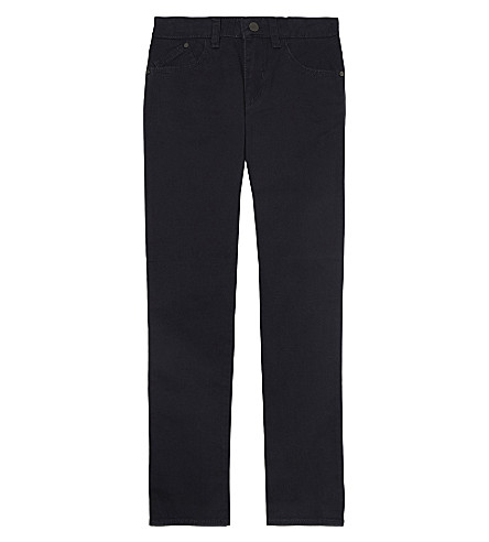 ARMANI JUNIOR Gaberdine trousers 4-16 years (Navy