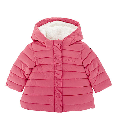 ARMANI JUNIOR Hooded down-filled puffa jacket 9-36 months (Pink