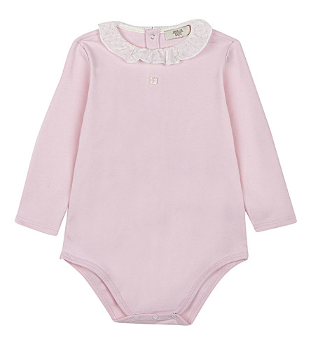 ARMANI JUNIOR Three-piece baby outfit set 1-12 months (White/pink