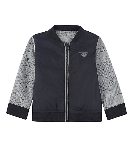 ARMANI JUNIOR Reversible bomber jacket 6-36 months (Navy