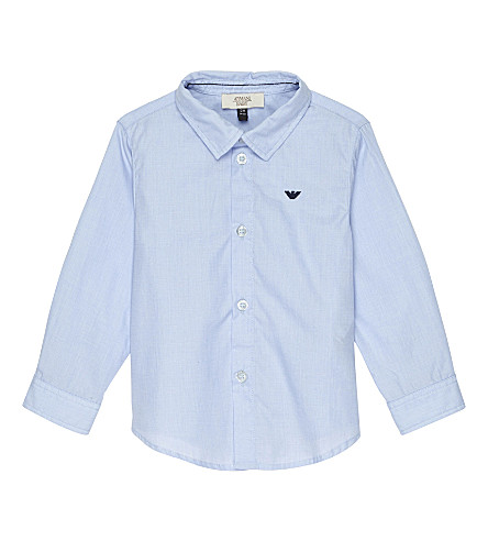 ARMANI JUNIOR Armani Junior cotton shirt 6-36 months (Pale+blue