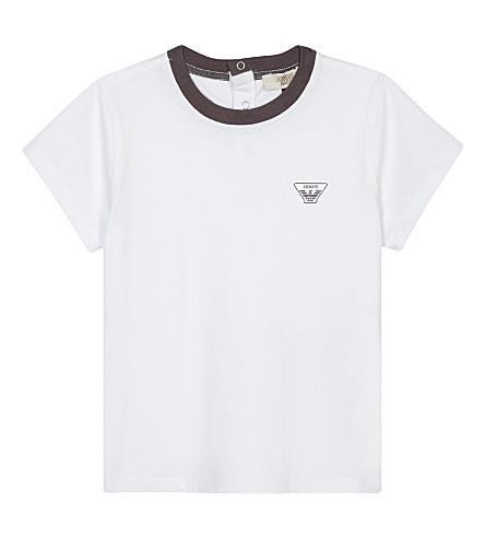 ARMANI JUNIOR Logo cotton T-shirt 6-36 months (White