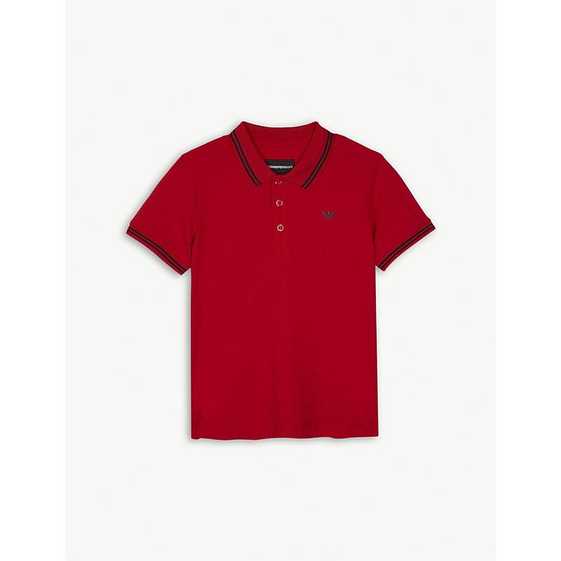 EMPORIO ARMANI | Logo Cotton-Blend Polo Shirt 4-16 Years | Goxip