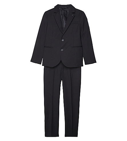 ARMANI JUNIOR Two-piece virgin wool suit 4-16 years (Blu