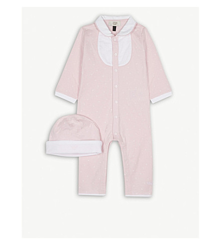 ARMANI JUNIOR Bodysuit and beanie hat set 1-12 months (Pink