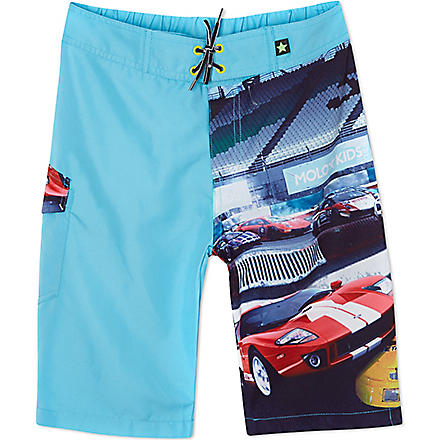 MOLO Racing car swim trunks 1-12 years (Capri