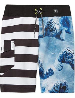 MOLO Alvaro striped tiger board shorts 3-14 years