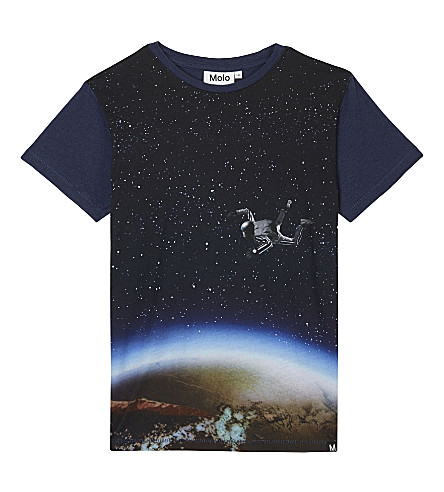 MOLO Ragnij spaceman cotton T-shirt 4-12 years (Blue