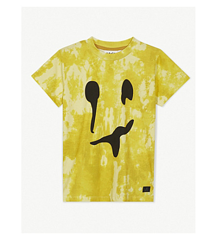 MOLO Raymont tie-dyed monster face print cotton T-shirt (Yellow