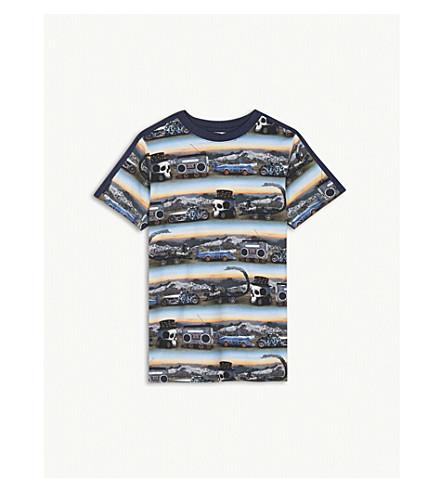MOLO Rishi printed cotton-blend t-shirt 4-12 years (Blue