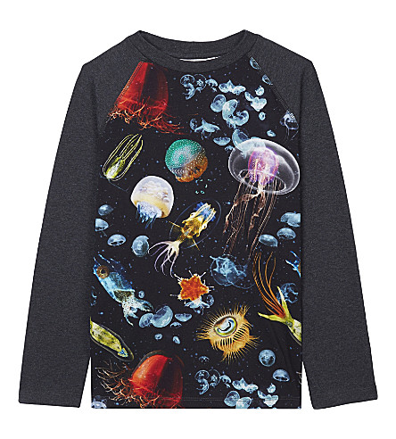 MOLO Remmington jellyfish cotton top 4-12 years (Charcoal