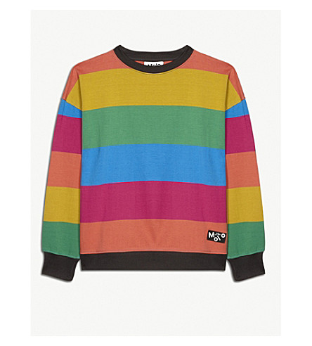 MOLO Max multi-coloured striped sweatshirt 4-14 years (Multi