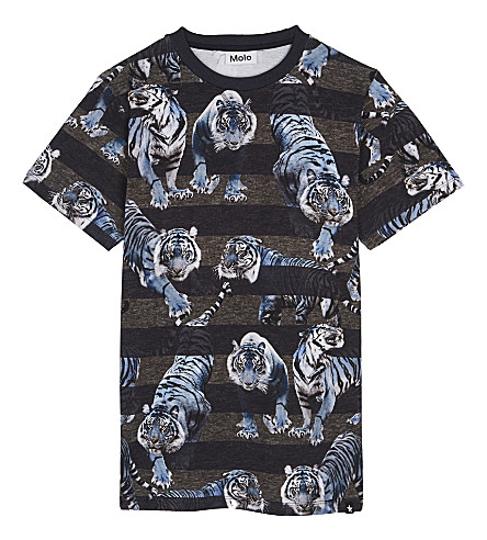 MOLO Ralphy cotton T-shirt 4-14 years (Blue+tiger