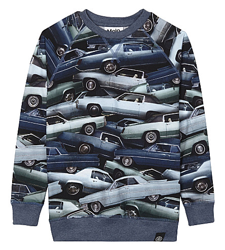 MOLO Romeo cotton long-sleeved top 4-14 years (Stacked+cars