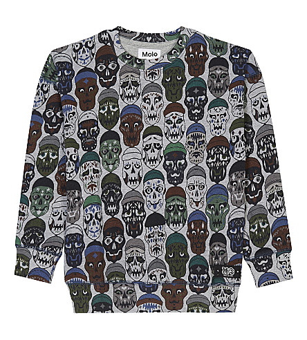 MOLO All-over skull pattern sweatshirt 4-14 years (Skate+skulls