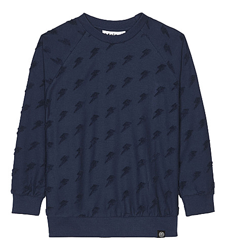 MOLO Mao lightning cotton sweatshirt 4-14 years (Deep+blue