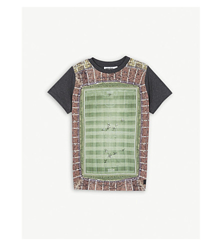 MOLO Raddix football print T-shirt 4-14 years (Football+pitch