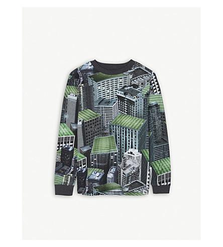 MOLO 兰奇棉足球 T 恤 4-14 岁 (绿色 + 打印