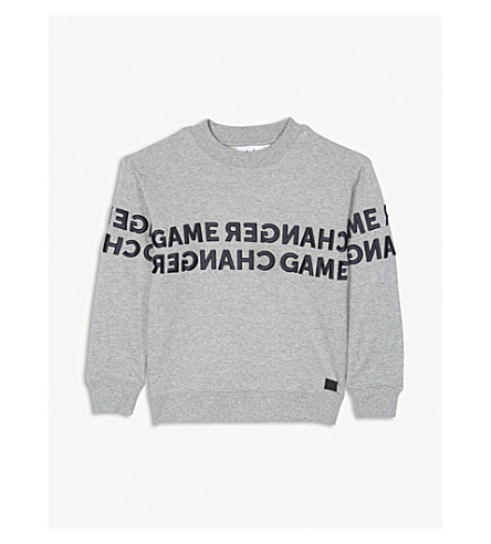 MOLO Game Changer cotton jumper (Grey+marl