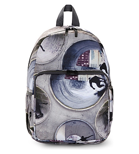 MOLO Skate graphic zipped backpack (Tunnel skaters