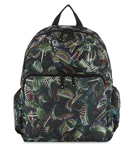 MOLO Digital plant print backpack (Green