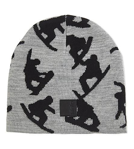 MOLO Snowboard print wool beanie (Grey