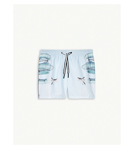 MOLO Niko shark swim shorts (Blue