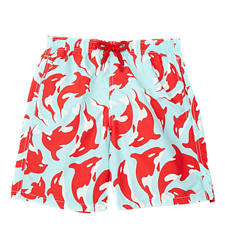 VILEBREQUIN Orka printed swim shorts (Turquoise