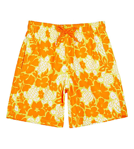 VILEBREQUIN Turtle flowers swim shorts 10 years (Yellow