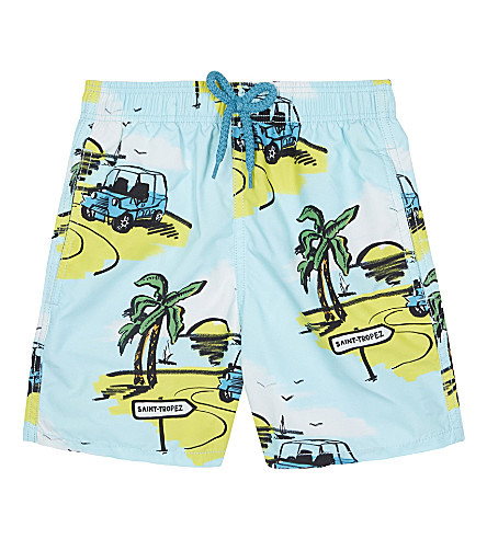VILEBREQUIN Jim islands swim shorts 4-8 years (Turquoise