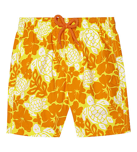 VILEBREQUIN Turtle flowers swim shorts 4-8 years (Yellow