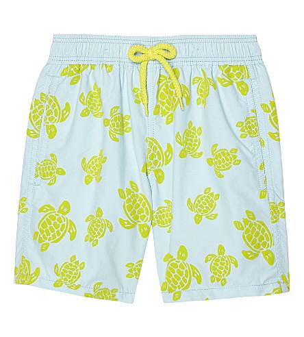 VILEBREQUIN Turtle print swim shorts 4-8 years (Turquoise