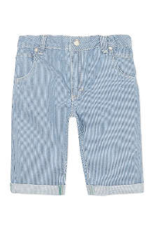 MINI A TURE Fine-striped turn-up shorts 2-8 years