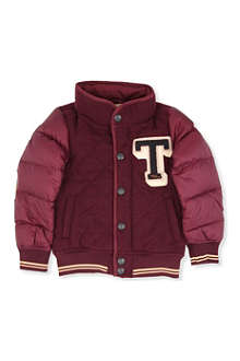 SCOTCH SHRUNK Quilted logo college jacket 4-14 years
