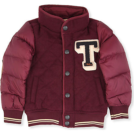 SCOTCH SHRUNK Quilted logo college jacket 4-14 years (Burgandy