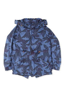 SCOTCH SHRUNK Hooded cotton printed jacket 4-16 years