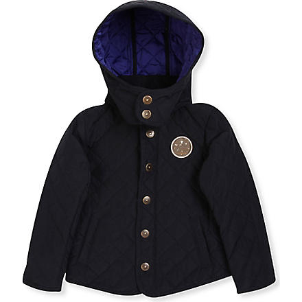 SCOTCH SHRUNK Hooded quilted jacket 4-14 years (Navy