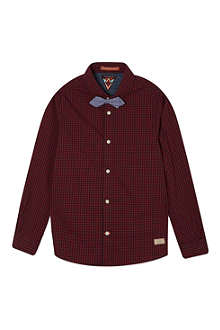 SCOTCH SHRUNK Check shirt with bow tie 4-16 years