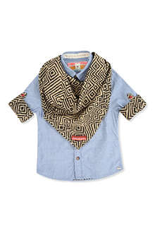 SCOTCH SHRUNK Long-sleeved scarf and cuff shirt 4-14 years