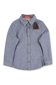 SCOTCH SHRUNK Leather pocket detail shirt 4-14 years