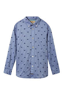 SCOTCH SHRUNK Chambray embroidered shirt 4-16 years