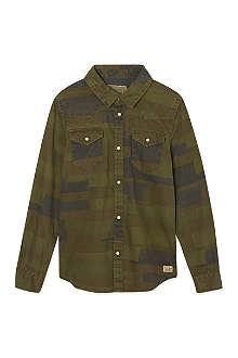 SCOTCH SHRUNK Camo print shirt 4-16 years